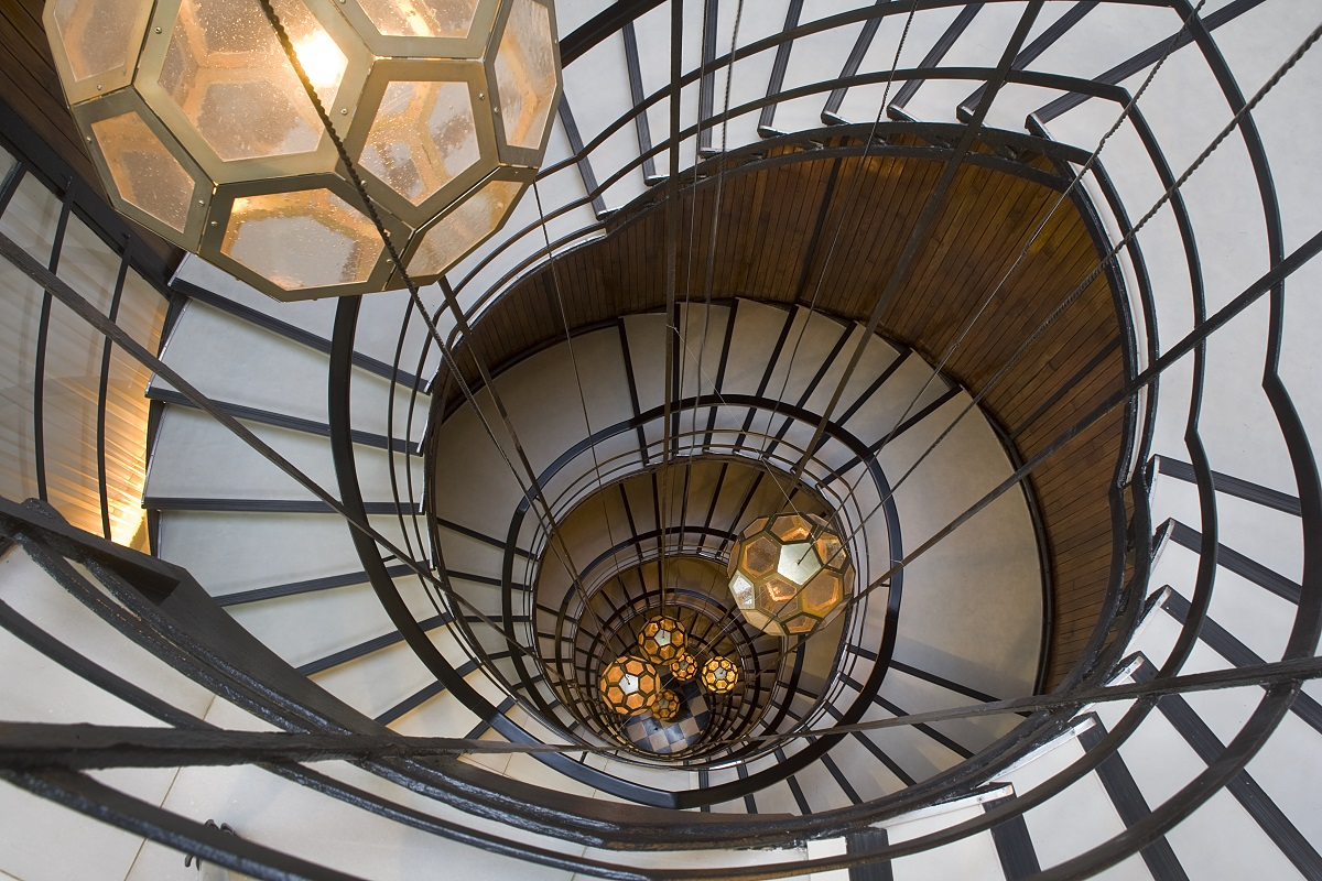 Cotton-House-Hotel-Spiral-Staircase